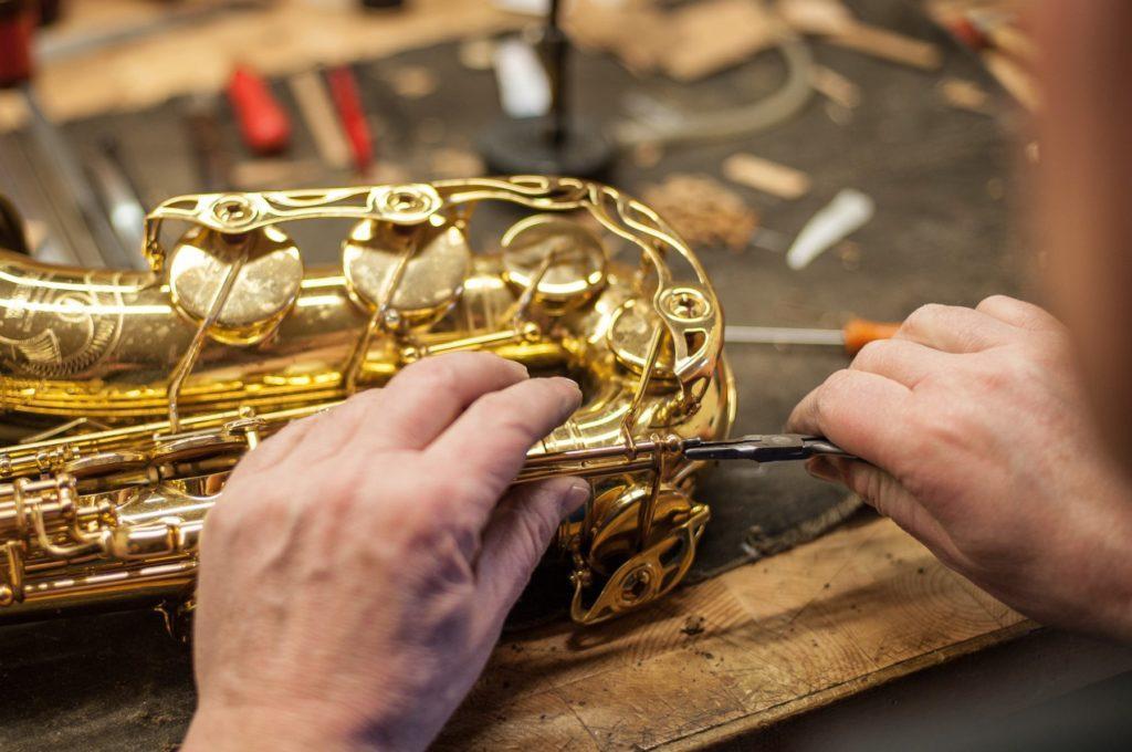 Reparatur Saxophone