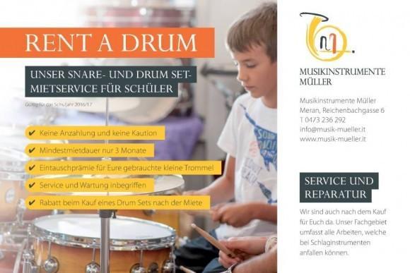 Schlagzeug, Drumset mieten - leihen